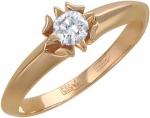 Кольцо из золота с бриллиантами в виде цветка 01К615125