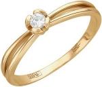 Кольцо из золота с бриллиантами в виде цветка 01К616810