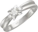 Кольцо из золота с бриллиантами в виде цветка 01К625758