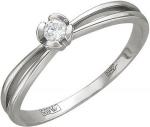 Кольцо из золота с бриллиантами в виде цветка 01К626810