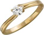 Кольцо из золота с фианитами 01К132976