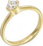 Кольцо из золота с фианитами 01К134137