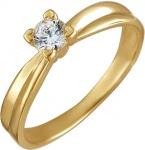 Кольцо из золота с фианитами 01К134417