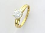 Кольцо из золота с фианитами 01К134542