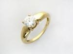 Кольцо из золота с фианитами 01К134573
