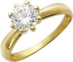 Кольцо из золота с фианитами 01К134861
