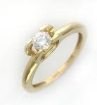 Кольцо из золота с фианитами 01К134893