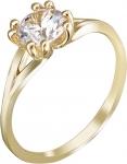 Кольцо из золота с фианитами 01К138526