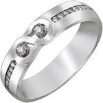 Кольцо из золота с символом бесконечности и бриллиантовой дорожкой 01О670379