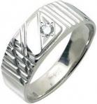 """Кольцо """"перстень"""" с 1-м бриллиантом НК 41-192"""