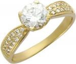 Кольцо россыпь из золота с фианитами 01К134572