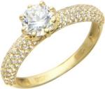 Кольцо россыпь из золота с фианитами 01К134877