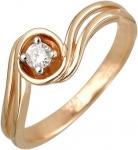 Кольцо волна из золота с бриллиантами 01К668171