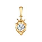 Подвеска «Знак зодиака Лев» из красного золота 034956
