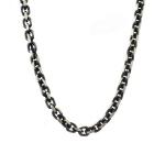 Черненная серебряная цепь с палладиевым покрытием, якорного плетение, шириной 0,8 см M0000001860