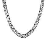 Мужская серебряная цепь, плетение ручной бисмарк, шириной 1 см M0000053727