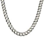 Мужская цепь плетения «Круглый панцирь плоский», шириной 1,1 см, из черненного серебра M0000053728
