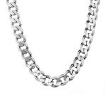 Очень толстая мужская цепь из серебра, классического панцирного плетения, шириной 1,4 см M0000053729