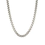 Цепь мужская из черненного серебра, плетение «Сколоченный якорь», ширина 7 мм M0000053735