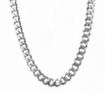 Тяжелая мужская серебряная цепь плетения «Панцирь», весом больше 100 гр., шириной 1,2 см M0000055414