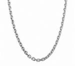 Мужская якорная цепь из родированного серебра с алмазными гранями шириной 0,6 см M0000055421