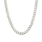 Мужская серебряная цепь «Квадратный панцирь» с палладиевым покрытием, шириной 7 мм M0000055993