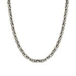 Мужская серебряная цепь с чернением и палладированием «Бизантина квадратная» ширина 5,5 мм M0000056010
