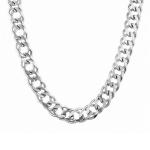 Очень массивная мужская цепь из серебра, плетение «Двойной ромб», ширина 1,4 см M0000056013