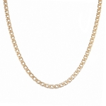 Цепь из золота 585 пробы, тип плетения- двойной ромб, ширина 4,8 мм M0000056436
