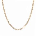 Классическая цепь плетения двойной ромб, изготовлена из золота 585 пробы, ширина 5 мм M0000056437