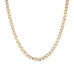 Цепь из розового золота 585 пробы, плетение лав, ширина 4,4 мм M0000056445