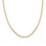 Аккуратная цепь плетения нона, выполнена из розового золота, ширина 3 мм M0000056449