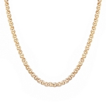 Цепь из розового золота 585 пробы, тип плетения нонна, шириной 5.2 мм M0000056452