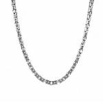 Серебряная цепь византийского квадратного плетения, ширина 5 мм M0000062570
