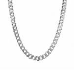"""Мужская серебряная цепь """"Плоский панцирь"""" ширина 8 мм M0000062572"""