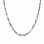 Мужская панцирная цепочка, серебрянная, из родированного серебра, ширина 5 мм M0000063551