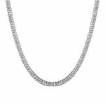 """Цепь из серебра, родированная, плетение """"Персидская"""", ширина 5 мм M0000063555"""