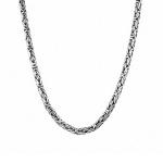 Мужская цепь из серебра с чернением «Византина круглая», ширина 0,5 мм M0000064769