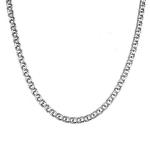 """Серебряная мужская цепочка черненно-оксидированная, шириной 0,6 см, плетение """"Ручной бисмарк"""" M0000065446"""