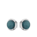 Маленькие серебряные серьги с амазонитом M0000069193