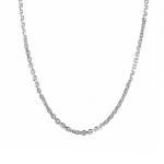 Серебряная цепь плетения якорь квадратный с родированием ширина 4 мм M0000075839