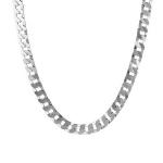Цепь мужская из серебра панцирь плоский квадратный ширина 8 мм M0000075842