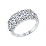 Кольцо из серебра с фианитами 94012222