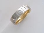 Обручальное кольцо из комбинированного золота с бриллиантами, ширина 5 мм Г5К662013