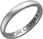Обручальное кольцо из платины с гравировкой «Amor Omnia vincit», ширина 3,1 мм 01О090308