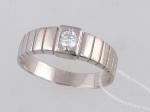 Обручальное кольцо из серебра с фианитами Е6Т152410Р
