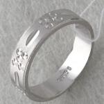 Обручальное кольцо из серебра Т4О750100350