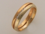 Обручальное кольцо из золота с бриллиантами, ширина 5 мм 32К660127