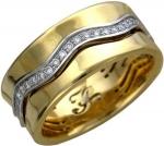 Обручальное кольцо из золота с бриллиантами 01О680201L