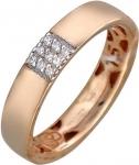 Обручальное кольцо из золота с фианитами А12О110356